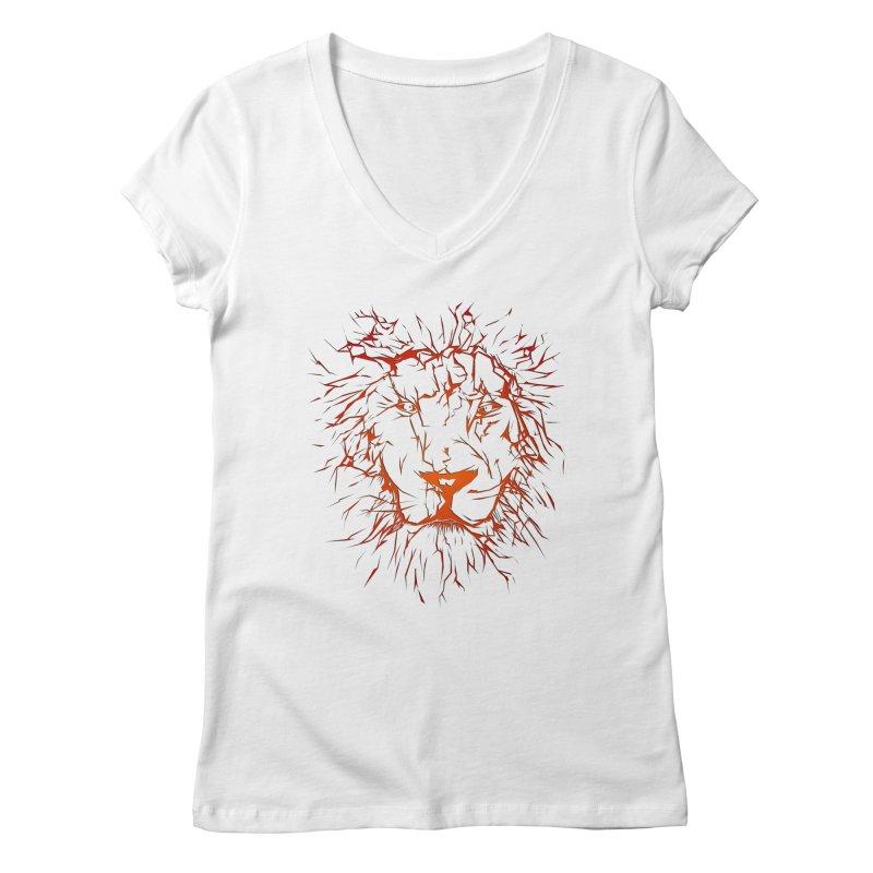 lava lion Women's Regular V-Neck by SOE