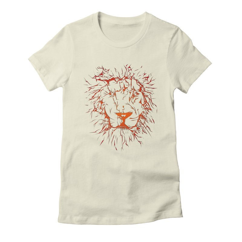 lava lion Women's Fitted T-Shirt by SOE