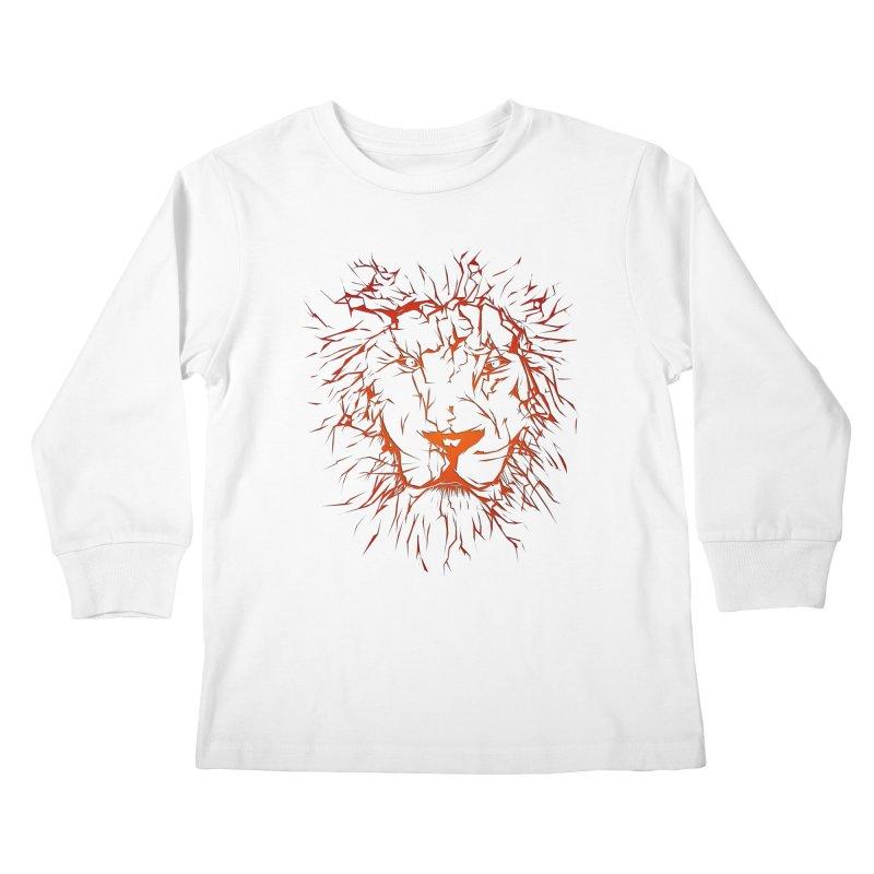 lava lion Kids Longsleeve T-Shirt by SOE