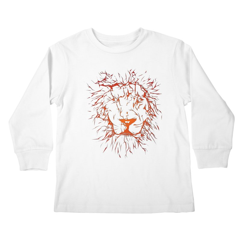 lava lion Kids Longsleeve T-Shirt by SOE