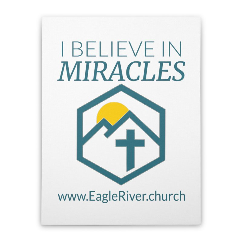 I Believe in Miracles (2019) Home Stretched Canvas by soer's Artist Shop
