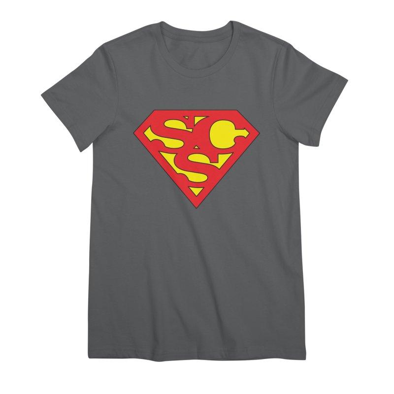 """Super Sweetheart"" Logo Women's Premium T-Shirt by Sofa City Sweetheart Discount Superstore"