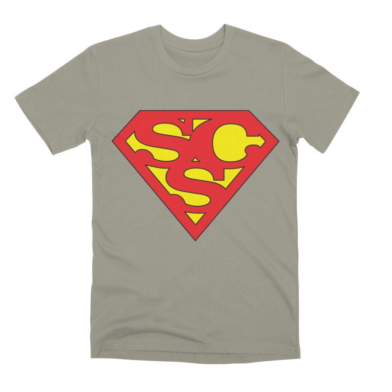 """Super Sweetheart"" Logo Men's Premium T-Shirt by Sofa City Sweetheart Discount Superstore"