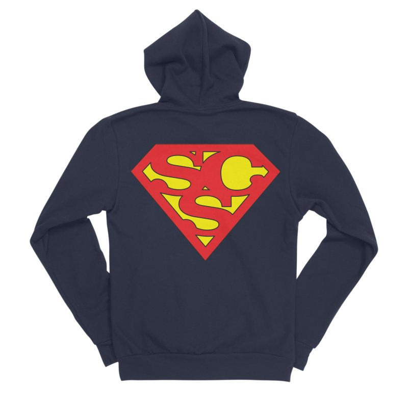"""""""Super Sweetheart"""" Logo Men's Sponge Fleece Zip-Up Hoody by Sofa City Sweetheart Discount Superstore"""