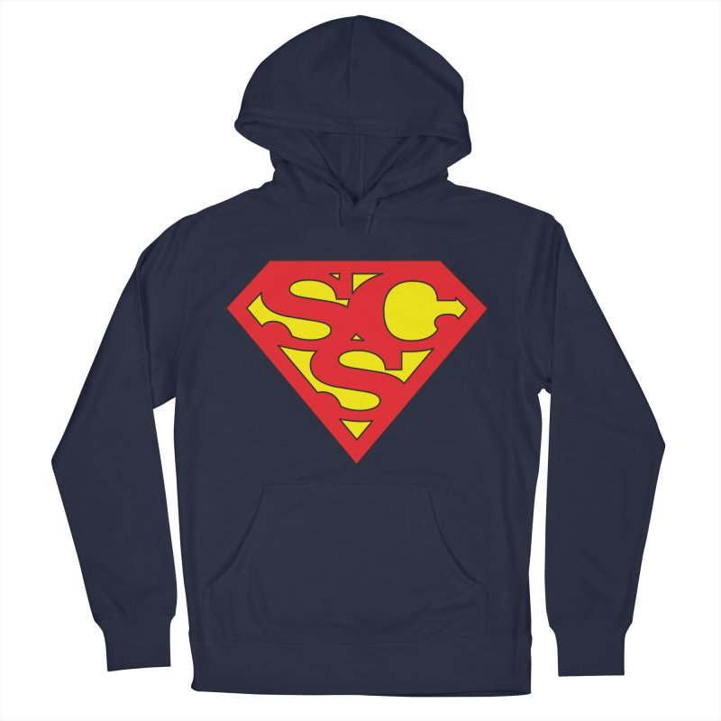"""""""Super Sweetheart"""" Logo Men's French Terry Pullover Hoody by Sofa City Sweetheart Discount Superstore"""