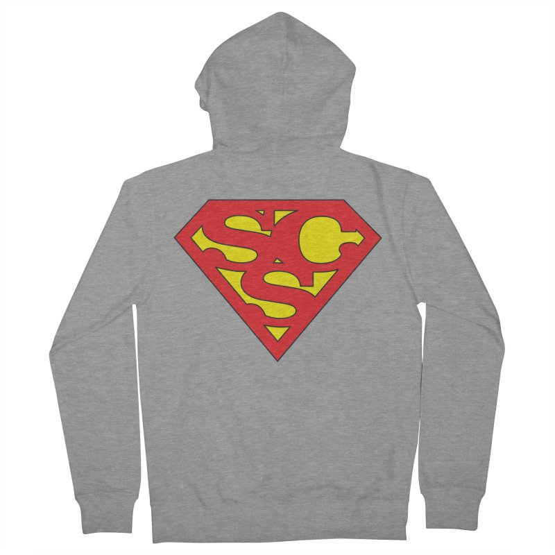 """Super Sweetheart"" Logo Men's French Terry Zip-Up Hoody by Sofa City Sweetheart Discount Superstore"