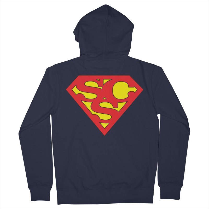 """""""Super Sweetheart"""" Logo Men's French Terry Zip-Up Hoody by Sofa City Sweetheart Discount Superstore"""