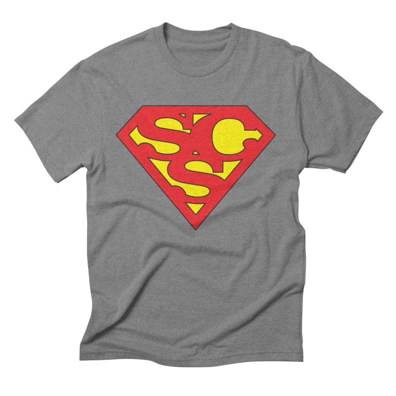 """""""Super Sweetheart"""" Logo Men's Triblend T-Shirt by Sofa City Sweetheart Discount Superstore"""