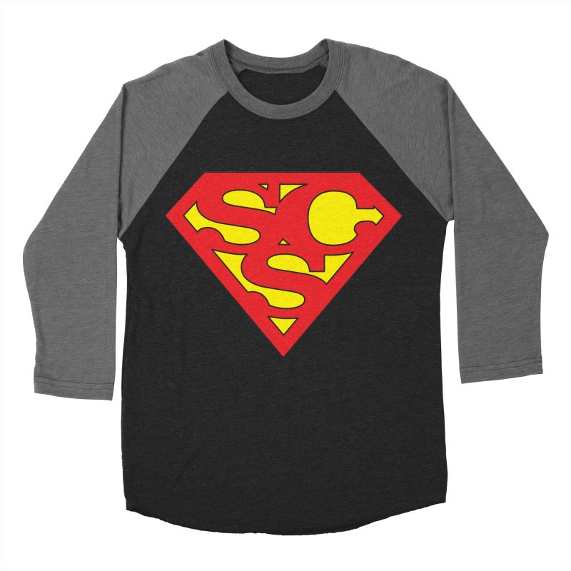 """Super Sweetheart"" Logo Men's Baseball Triblend Longsleeve T-Shirt by Sofa City Sweetheart Discount Superstore"