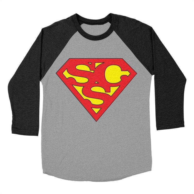 """Super Sweetheart"" Logo Men's Baseball Triblend Longsleeve T-Shirt by Sofa City Sweetheart Discount Superstore"