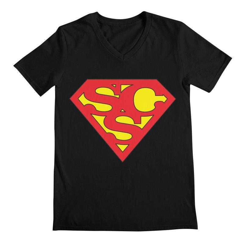 """Super Sweetheart"" Logo Men's Regular V-Neck by Sofa City Sweetheart Discount Superstore"