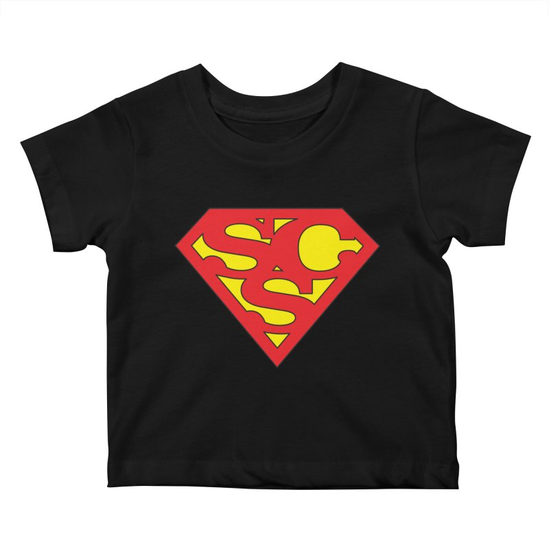 """Super Sweetheart"" Logo Kids Baby T-Shirt by Sofa City Sweetheart Discount Superstore"