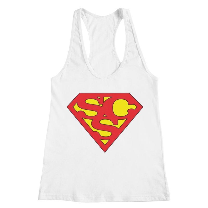 """Super Sweetheart"" Logo Women's Racerback Tank by Sofa City Sweetheart Discount Superstore"