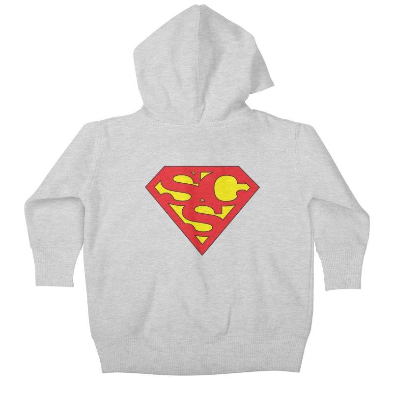 """Super Sweetheart"" Logo Kids Baby Zip-Up Hoody by Sofa City Sweetheart Discount Superstore"