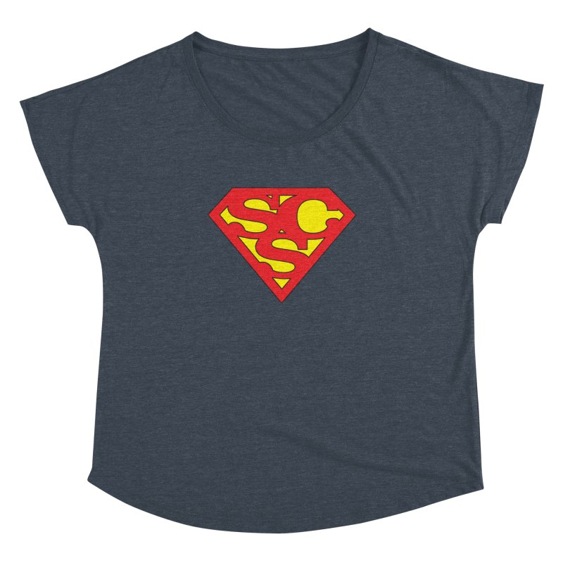 """Super Sweetheart"" Logo Women's Dolman Scoop Neck by Sofa City Sweetheart Discount Superstore"