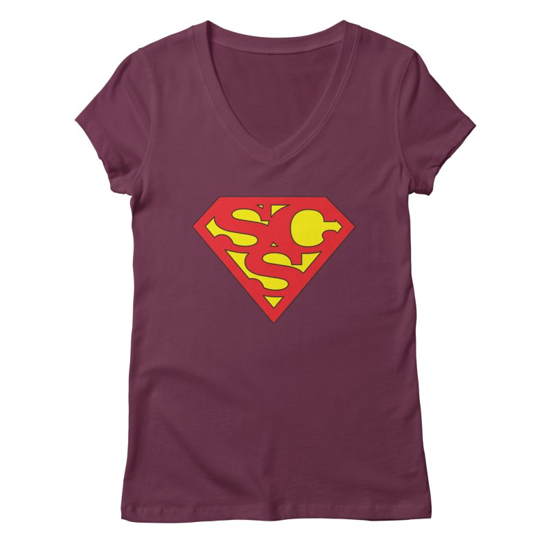 """Super Sweetheart"" Logo Women's Regular V-Neck by Sofa City Sweetheart Discount Superstore"