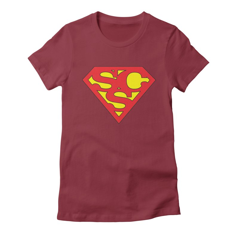 """""""Super Sweetheart"""" Logo Women's Fitted T-Shirt by Sofa City Sweetheart Discount Superstore"""