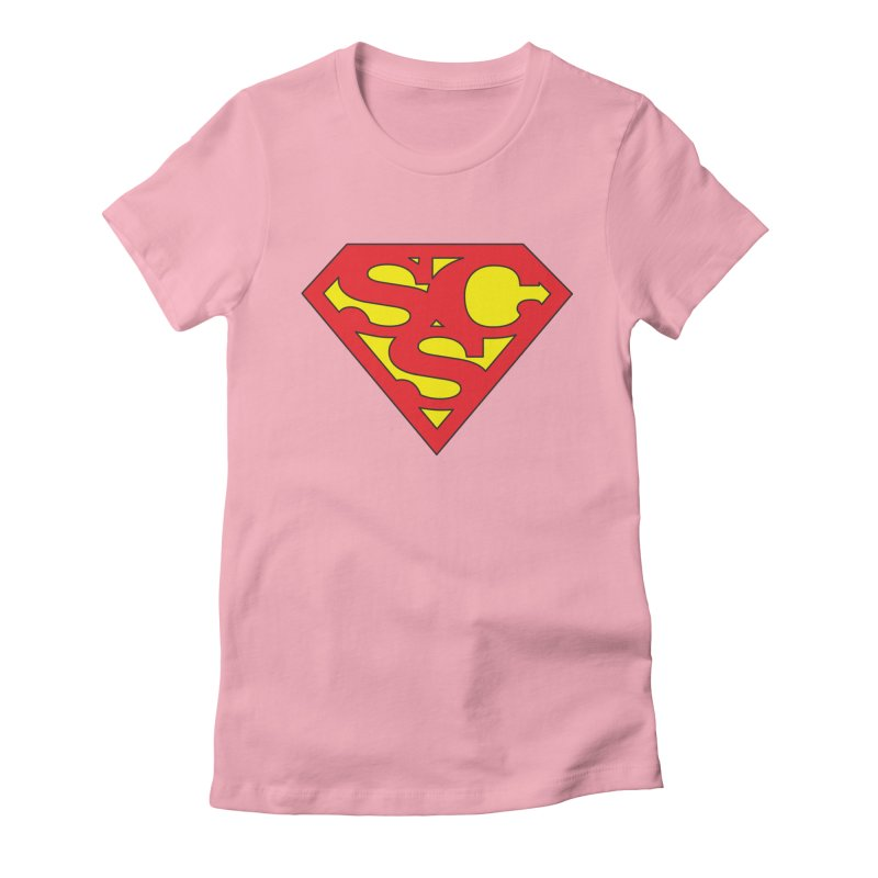 """Super Sweetheart"" Logo Women's Fitted T-Shirt by Sofa City Sweetheart Discount Superstore"