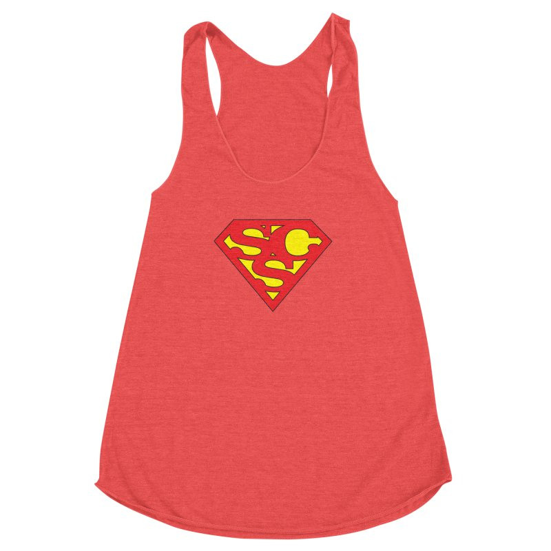 """Super Sweetheart"" Logo Women's Racerback Triblend Tank by Sofa City Sweetheart Discount Superstore"