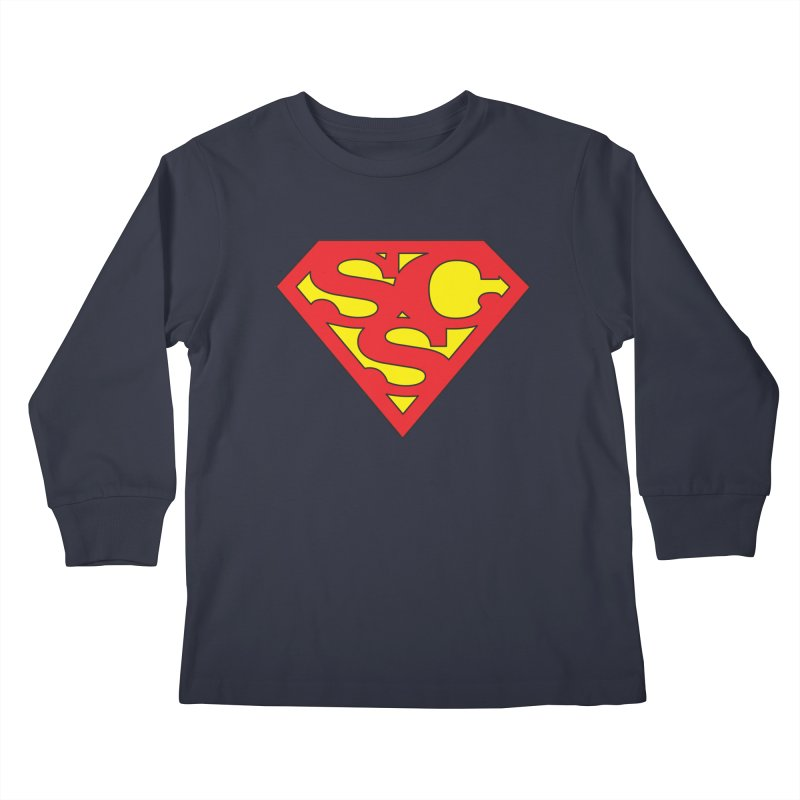 """Super Sweetheart"" Logo Kids Longsleeve T-Shirt by Sofa City Sweetheart Discount Superstore"