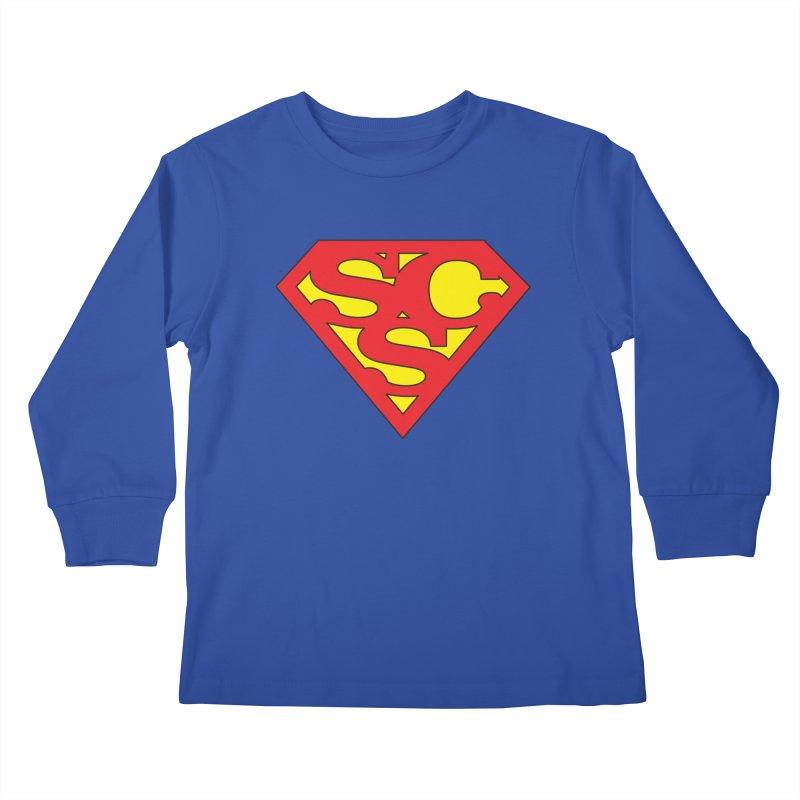 """Super Sweetheart"" Logo Kids Longsleeve T-Shirt by Sofa City Sweetheart Discount Superstore"