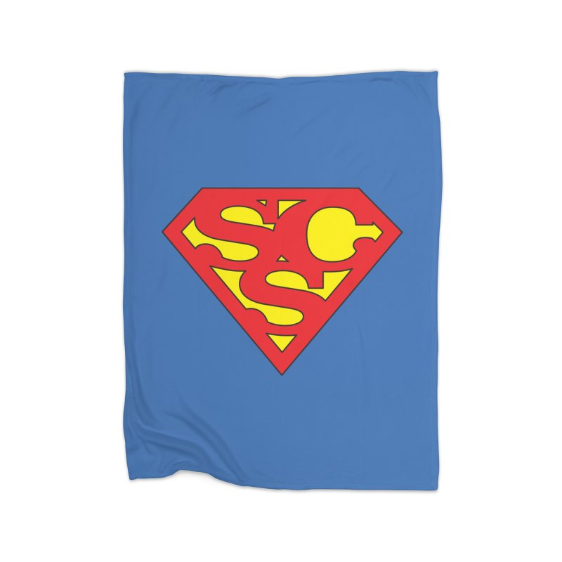 """Super Sweetheart"" Logo Home Fleece Blanket Blanket by Sofa City Sweetheart Discount Superstore"