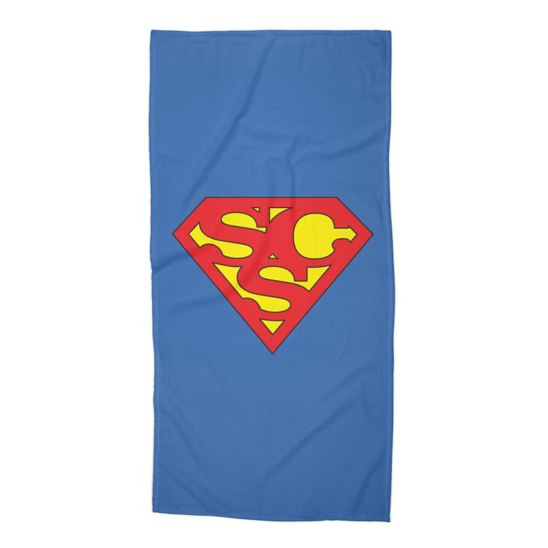 """Super Sweetheart"" Logo Accessories Beach Towel by Sofa City Sweetheart Discount Superstore"