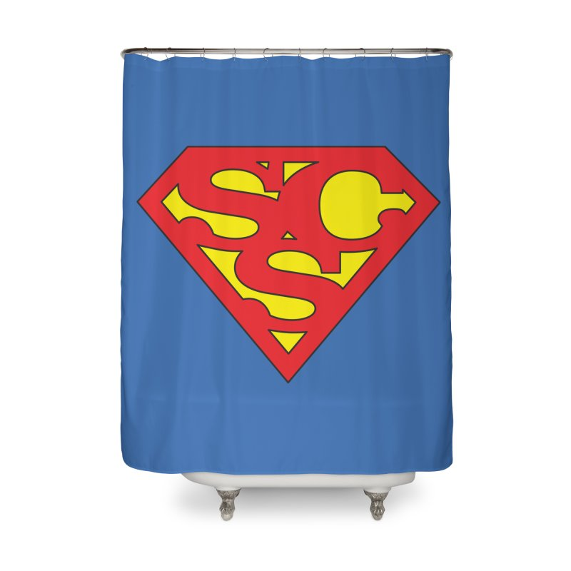 """""""Super Sweetheart"""" Logo Home Shower Curtain by Sofa City Sweetheart Discount Superstore"""