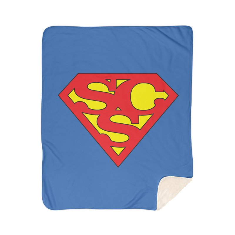 """Super Sweetheart"" Logo Home Sherpa Blanket Blanket by Sofa City Sweetheart Discount Superstore"