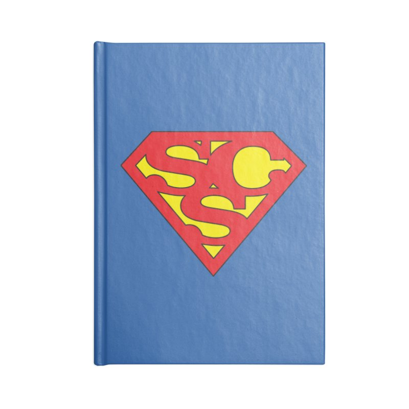 """Super Sweetheart"" Logo Accessories Blank Journal Notebook by Sofa City Sweetheart Discount Superstore"