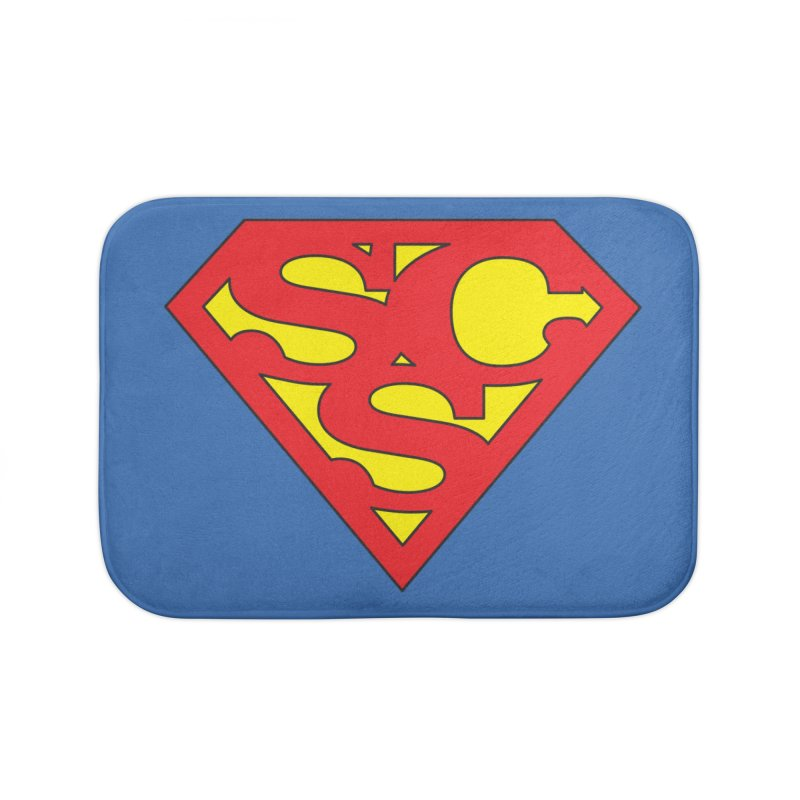 """Super Sweetheart"" Logo Home Bath Mat by Sofa City Sweetheart Discount Superstore"