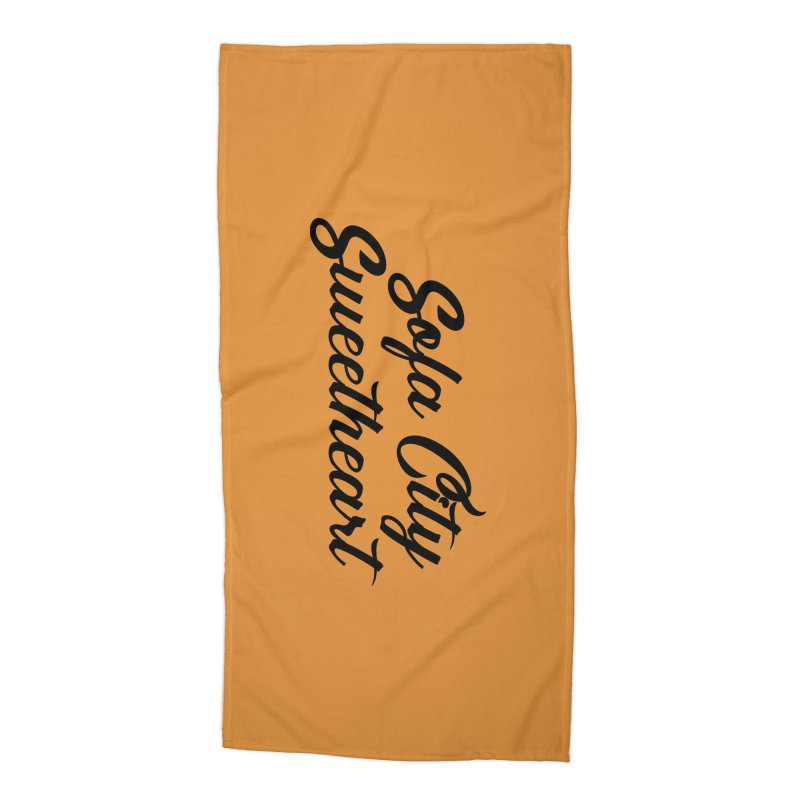 "Sofa City ""Summer Camp"" (Black Font) Accessories Beach Towel by Sofa City Sweetheart Discount Superstore"