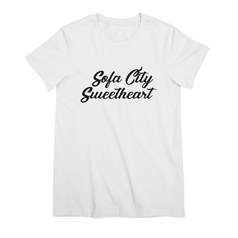 """Sofa City """"Summer Camp"""" (Black Font) Women's Premium T-Shirt by Sofa City Sweetheart Discount Superstore"""