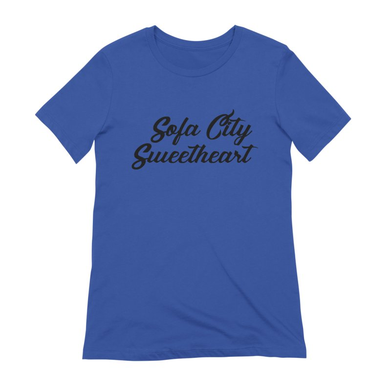 """Sofa City """"Summer Camp"""" (Black Font) Women's Extra Soft T-Shirt by Sofa City Sweetheart Discount Superstore"""
