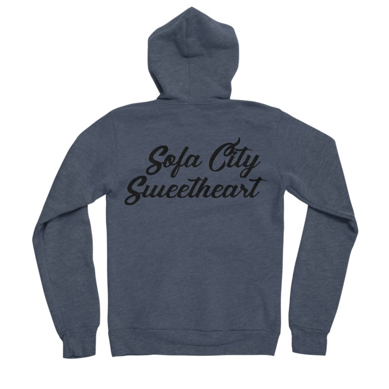 "Sofa City ""Summer Camp"" (Black Font) Women's Sponge Fleece Zip-Up Hoody by Sofa City Sweetheart Discount Superstore"