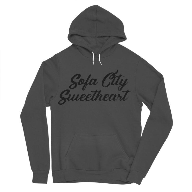 "Sofa City ""Summer Camp"" (Black Font) Women's Sponge Fleece Pullover Hoody by Sofa City Sweetheart Discount Superstore"