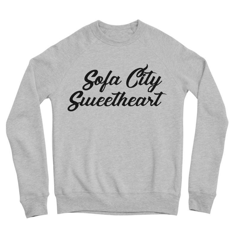 "Sofa City ""Summer Camp"" (Black Font) Women's Sponge Fleece Sweatshirt by Sofa City Sweetheart Discount Superstore"