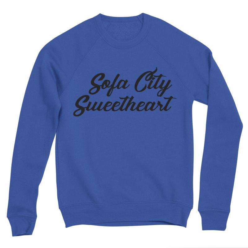 """Sofa City """"Summer Camp"""" (Black Font) Men's Sponge Fleece Sweatshirt by Sofa City Sweetheart Discount Superstore"""