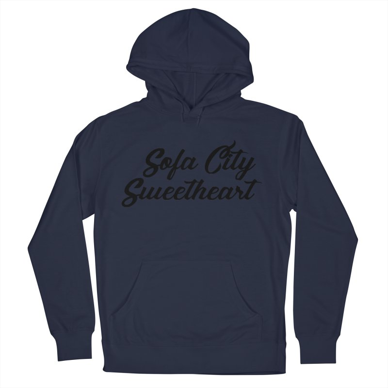 """Sofa City """"Summer Camp"""" (Black Font) Women's French Terry Pullover Hoody by Sofa City Sweetheart Discount Superstore"""