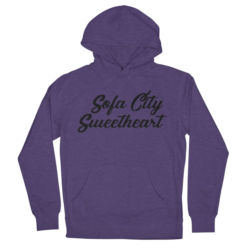 """Sofa City """"Summer Camp"""" (Black Font) Men's French Terry Pullover Hoody by Sofa City Sweetheart Discount Superstore"""