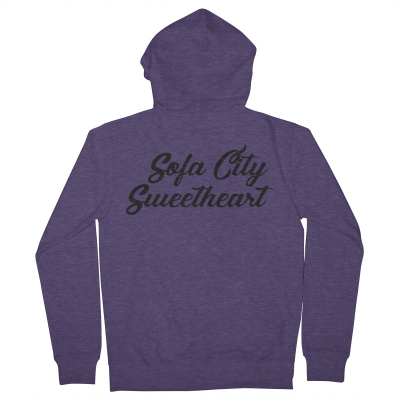 "Sofa City ""Summer Camp"" (Black Font) Men's French Terry Zip-Up Hoody by Sofa City Sweetheart Discount Superstore"