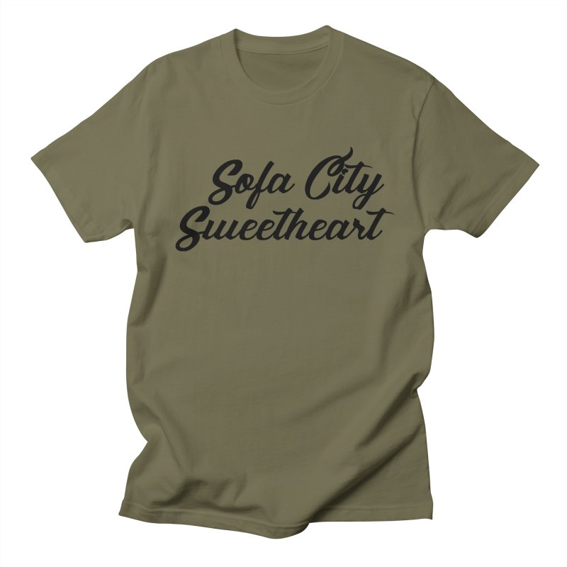 "Sofa City ""Summer Camp"" (Black Font) Men's Regular T-Shirt by Sofa City Sweetheart Discount Superstore"