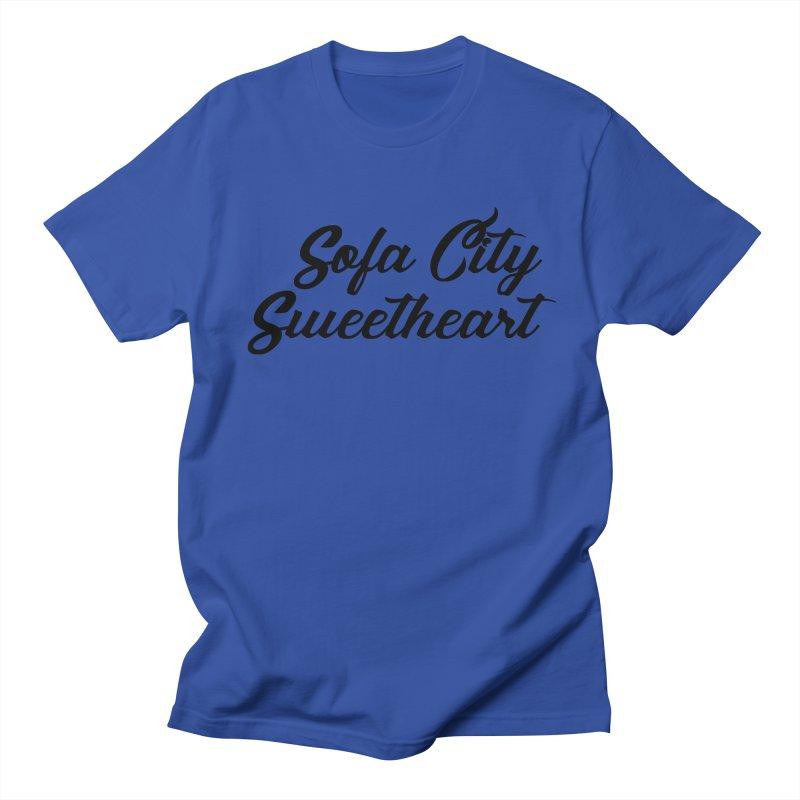 "Sofa City ""Summer Camp"" (Black Font) Men's Regular T-Shirt by Sofa City Sweetheart Discount Superstore"