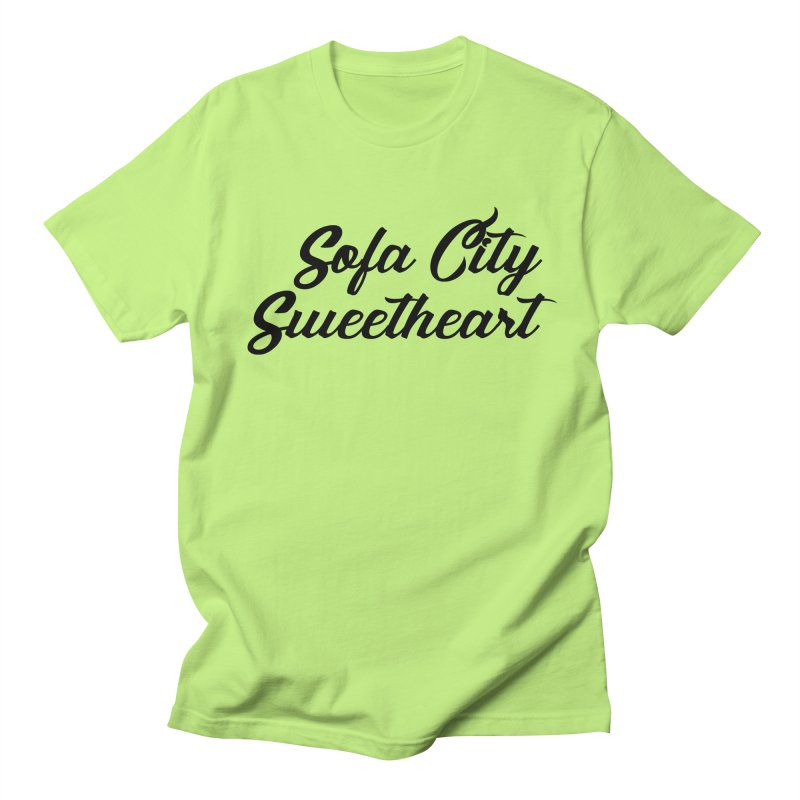 "Sofa City ""Summer Camp"" (Black Font) Women's Regular Unisex T-Shirt by Sofa City Sweetheart Discount Superstore"