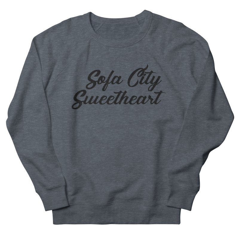 """Sofa City """"Summer Camp"""" (Black Font) Women's French Terry Sweatshirt by Sofa City Sweetheart Discount Superstore"""