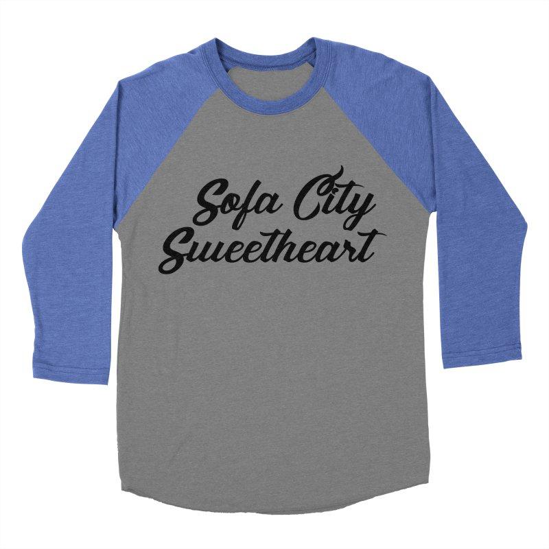 "Sofa City ""Summer Camp"" (Black Font) Men's Baseball Triblend Longsleeve T-Shirt by Sofa City Sweetheart Discount Superstore"