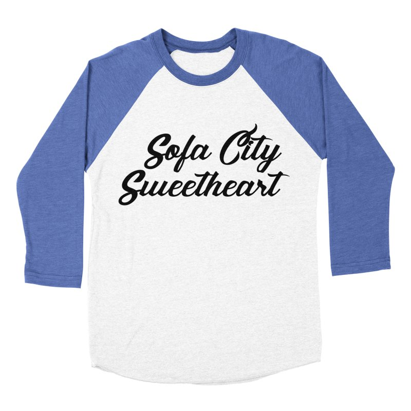 "Sofa City ""Summer Camp"" (Black Font) Men's Baseball Triblend Longsleeve T-Shirt by Sofa City Sweetheart Discount Superstore"