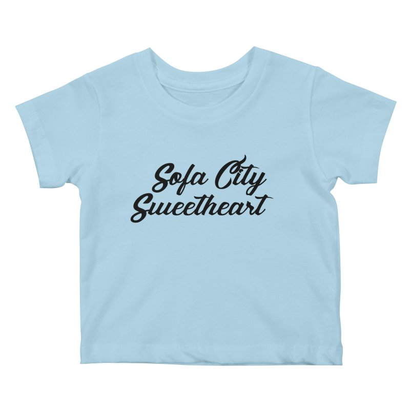 """Sofa City """"Summer Camp"""" (Black Font) Kids Baby T-Shirt by Sofa City Sweetheart Discount Superstore"""