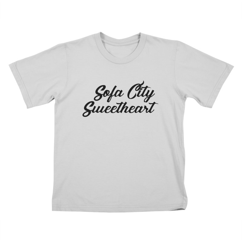"""Sofa City """"Summer Camp"""" (Black Font) Kids T-Shirt by Sofa City Sweetheart Discount Superstore"""