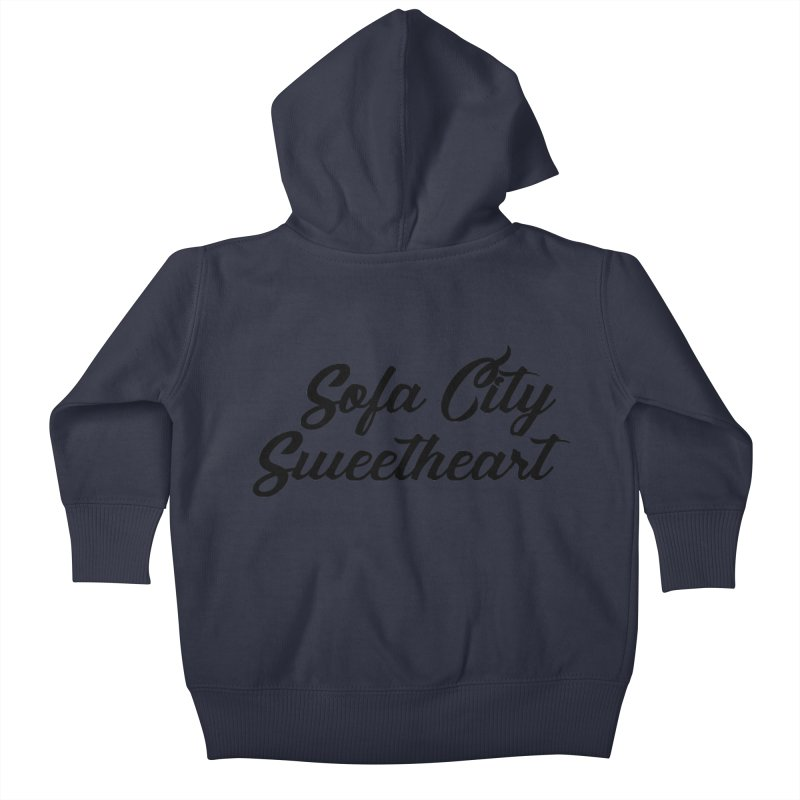 "Sofa City ""Summer Camp"" (Black Font) Kids Baby Zip-Up Hoody by Sofa City Sweetheart Discount Superstore"